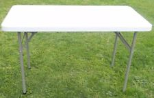 Folding Blow Moulded Table 120Lx61Wx58Hcm Outdoor Camping Garden BBQ Party