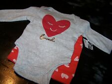 Baby Girl 3/6 Mo~Hearts 2 Pc.Set~Bodysuit & Pant~(Loved)~Old Navy~Nwcot~Gr36
