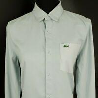 Lacoste LIVE Womens Casual Shirt Size 38 Long Sleeve Blue Regular Fit  Denim
