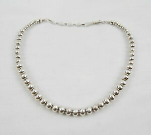 """Christin Wolf Sterling Silver Beaded Necklace 18"""""""