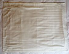 "Pillow Shams Set of Two Striped Pattern Ivory Color Standard Pillow Size 20""X26"""