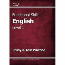 Functional Skills English Level 1 - Study & Test Practice by CGP Books (Paperbac