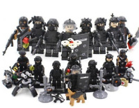 SET Military 8pz City Police Swat Army Soldiers Weapons Gun Ww2 Toys Custom