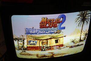 Metal Slug 2 Neo Geo MVS SNK  Authentic Please Read  TRANSPARENT GREEN