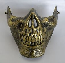 Gold Half Skull Skeleton Halloween Costume Party Mask * NEW *