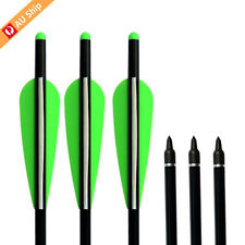 """12X 18"""" Aluminum Shafts Crossbow Bolts Arrows Hunting Screw In Tips Outdoor"""