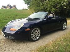 Porsche Boxster 3.2S Roadster, 2002 02 in Lapis Blue Metallic with Grey Leather