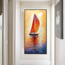 VV#161 Hand-painted Room Modern Abstract Simple Decoration oil painting Sunrise