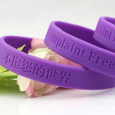 10 pcs A Complaint Free World Silicone Bracelets Rubber Wristbands For Man