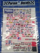 Parma 747 Self Stick Drag Sponsor Logo Decal Sheet 1/24 slot car from MidAmerica