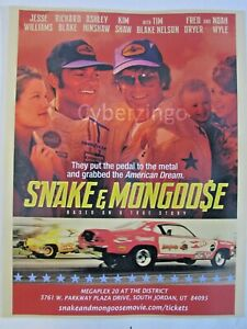"""Snake & Mongoose Movie Print 8 1/2"""" X 11"""" Tom McEwen Don Prudhomme Funny Cars"""