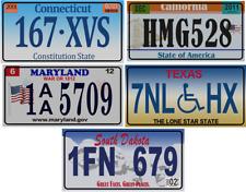 Set of 5 USA License Plates replica made in metal Nummernschilde road sign V9