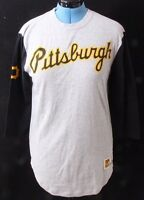 Mitchell & Ness Pittsburgh Pirates MLB 3/4 Sleeve Knit Tee Shirt Women's L