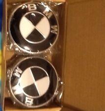 4 X BMW Wheel Center Caps Black White 36136783536 USA Seller Free Shipping