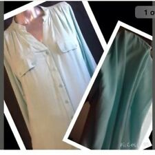 VALLEYGIRL 10 Forever Aqua (more Aqua Than Pic) Long Sleeve Button Shirt NEW