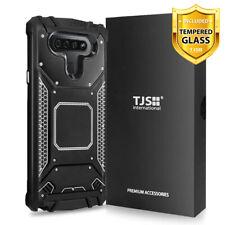 For LG Stylo 6 Phone Case TJS TankMate Metal Aluminum +Tempered Glass
