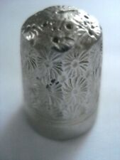 DORCAS THIMBLE-COMBINATION OF STRONG STEEL AND STERLING SILVER 1880-1940s