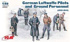 ICM 1/48 WWII LUFTWAFFE Pilotes et personnel au sol # 48082