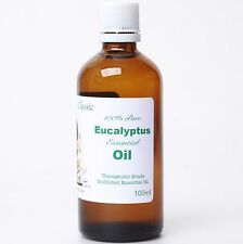 100 Pure 100ml Organic Undiluted Eucalyptus Essential Oil Suani Aroma Therapy