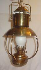 Vintage DHR Holland Pendulum Lantern Light Lamp Brass Nautical Electric 60's