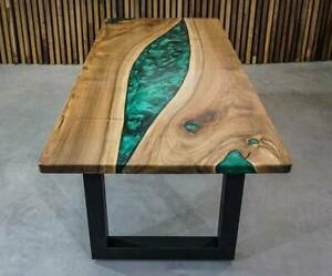 """36"""" x 22"""" Epoxy Side Table Top / Epoxy Resin Coffee Table Top Home Furniture"""