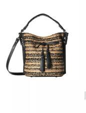 Patricia Nash Women's Black Ebbe Woven Straw Otavia Bucket Bag