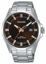 Pulsar Gents Roestvrij Staal Bruin Gezicht Horloge PS9507X1 Horloge -16%!