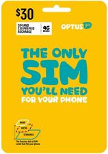 Australia Optus Mobile $30 Prepaid Sim with 3Gb data and call credit (3G/4G)