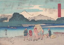 HIROSHIGE - FUJI ukiyo-e ESTAMPE JAPONAISE AUTHENTIQUE original japan woodblock