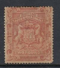 Rhodesia SG11 1892-93 Two Pound Rose-red - Mounted mint