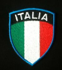 ITALY ITALIA ITALIAN NATIONAL FOOTBALL FLAG BADGE IRON SEW ON PATCH CREST