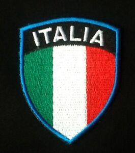ITALY ITALIA ITALIAN NATIONAL FOOTBALL FLAG BADGE IRON SEW ON PATCH CREST