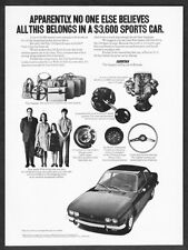 """1972 Fiat 124 Sport Coupe photo """"All This in a $3600 Car"""" vintage promo print ad"""