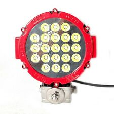 "TWO 7"" RED 63w LED SPOT LIGHT 4WD OFF-ROAD DRIVING SUV JEEP 4X4 TRUCK WORK LIGHT"