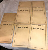 LV Lehigh Valley Railroad Co Company Book Of Rules 5 1950's Lot Vintage! Train