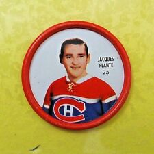 """JACQUES PLANTE  1962-63  """" SHIRRIFF HOCKEY COIN """"  #25   Montreal Canadiens"""