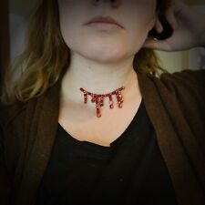 Beaded Blood Chocker Necklace