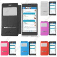 Housse Coque Etui Fenêtre View Flip Cover Nokia Lumia 950 735 650 640 630 550