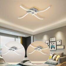 LED Design Deckenleuchte Wohnzimmer modern Deckenlampe Acrylweiß Aluoptik 24W