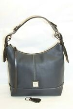 Dooney & Bourke Pebble Leather Hobo Handbag- Gracie MIDNIGHT RTL$286