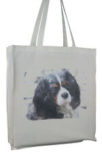 More details for cavalier king charles spaniel tri splash dog cotton bag xtra space perfect gift