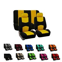 Car Seat Covers Flat Cloth Full Set Universal Fit For Auto Truck SUV Van