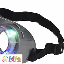 ALIEN GREY LIGHT UP GOGGLES GLASSES Adults Mens Ladies Fancy Dress Accessory