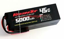 RoaringTop LiPo Battery Pack 45C 5000mAh 4S1P 14.8V HardCase with Leads Out
