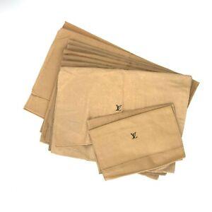 100% Authentic Louis Vuitton Set of 10 Dust Bag Brown Cotton [Used] {08-0395}