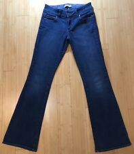 PAIGE PETITE Holly Petite Bootcut Medium Blue Jeans Women's Size 28x32 EUC!!!