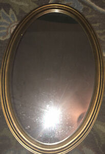 "Large Gold Mirror 22""x31"" Beautiful  Gold Glass entry Way Vanity Wall"