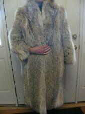 Luxurious Beautiful Coyote Women's Fur Coat Full Length