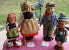 lot of 4 hummel dolls birthday serenades, goose girl, schoolboy
