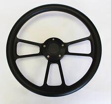 "49-57 Ford Pick Up Truck F1 F100 Black Grip on Black Spokes Steering Wheel 14"""
